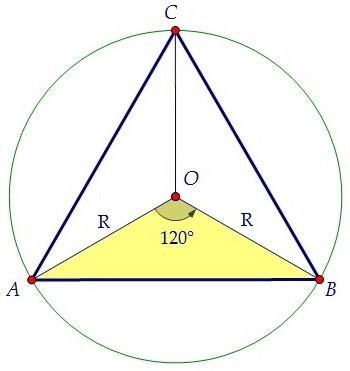как найти радиус описанной окружности треугольника
